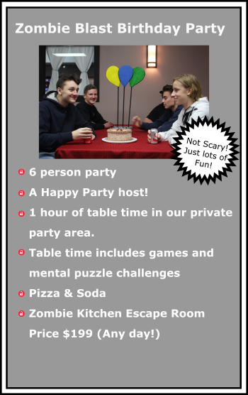escape room birthday party_Zombie party package at TeamEscape 262